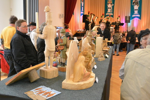 Viele auch größere Werke wurden ausgestellt.