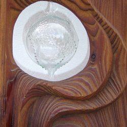 """Stele """"Holz-Glas (Detail)"""