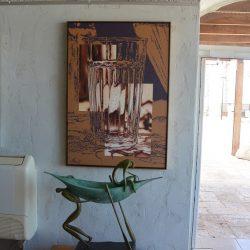 Wasserglas-Bild